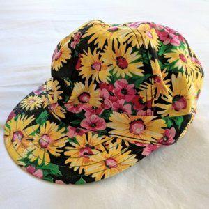VTG Daisy Floral Gatsby Style Cap